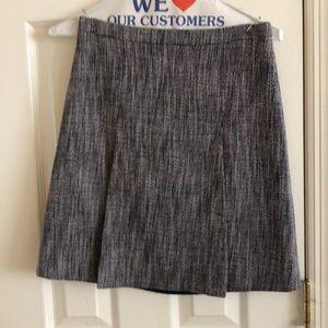 Jcrew factory cotton navy tweed skirt